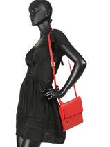 Shoulder Bag  Leather Crinkles Red 4346-vue-porte