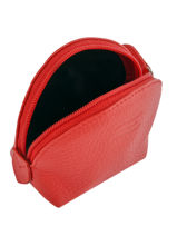Purse Leather Crinkles Red 14026-vue-porte