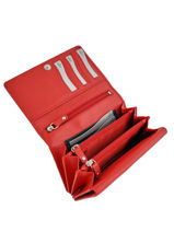 Wallet Leather Crinkles Red 14049-vue-porte