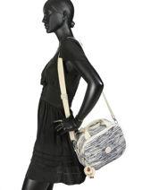 Beauty Case Souple Kipling Blanc basic travel 13860-vue-porte