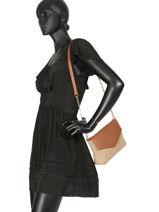 Crossbody Bag Bilana Pieces Brown bilana 17093736-vue-porte