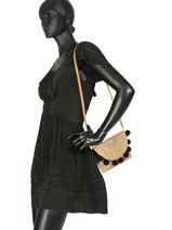 Crossbody Bag Becka Pieces Black becka 17094643-vue-porte