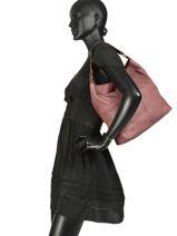 Shoulder Bag Buffalo Leather Basilic pepper Black buffalo BBUF02-vue-porte