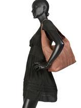 Shoulder Bag Tempo Leather Basilic pepper Black tempo BTEM03-vue-porte
