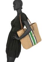 Dryden Straw Tote Bag A4 Lauren ralph lauren Black dryden 31738816-vue-porte