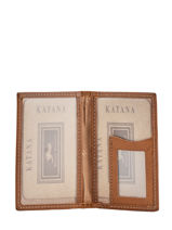 Card Holder Leather Katana Brown tampon 253102-vue-porte