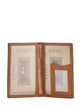 Porte-cartes Cuir Katana Marron tampon 253102-vue-porte
