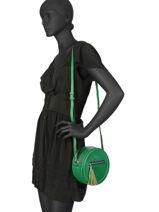 Sac Bandoulière Couture Miniprix Vert couture HJ1736-1-vue-porte