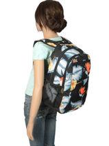 Sac à Dos 3 Compartiments Roxy Noir backpack RJBP3846-vue-porte
