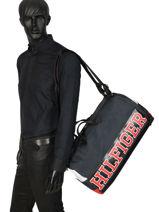 Travel Bag Varsity Nylon Tommy hilfiger Black varsity nylon AM04521-vue-porte