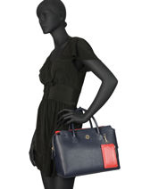 Satchel Charming Tommy Tommy hilfiger Blue charming tommy AW06463-vue-porte