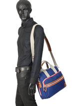 "Atleta Business Bag + 16"" Laptop Sleeve Serge blanco Blue atleta ALT41001-vue-porte"