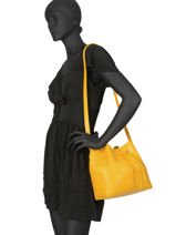 Crossbody Bag Pur Smooth Lancaster Yellow pur smooth 423-10-vue-porte