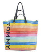 Sac Cabas A4 Tommy Summer Tommy hilfiger Multicolore tommy summer AW06781