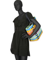 Shoulder Bag A4 Tommy Summer Tommy hilfiger Multicolor tommy summer AW06781-vue-porte