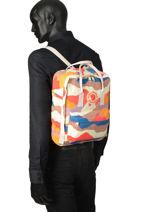 Backpack Kånken Art 1 Compartment Fjallraven Multicolor kanken 23610-vue-porte