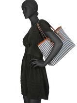 Shopper Paloma Mac douglas Blue paloma EVEPAL-M-vue-porte