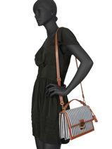 Shoulder Bag Joyaux Paloma Mac douglas Blue paloma JOYPAL-M-vue-porte