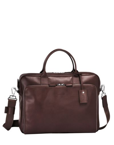 Longchamp Baxi Serviette Marron