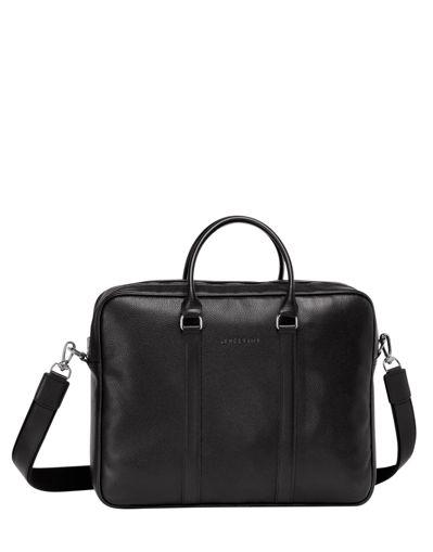 Longchamp Le foulonné Serviette Noir