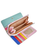 Wallet Miniprix Pink multico COK712-vue-porte
