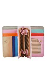 Purse Card Holder Miniprix Pink multico COK713-vue-porte