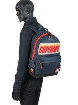 Backpack 1 Compartment Superdry Black backpack men M91024MT-vue-porte
