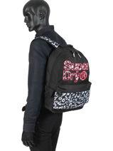 Backpack 1 Compartment Superdry Black backpack woomen G91110MT-vue-porte