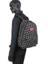 Sac à Dos 1 Compartiment Superdry Noir backpack woomen G91007JR-vue-porte