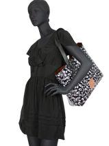 Sac Shopping Elaina Print Superdry Noir women bags G91107MT-vue-porte