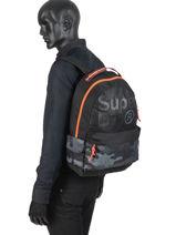 Sac à Dos Dot Montana 1 Compartiment Superdry Noir backpack men M91001MT-vue-porte