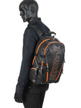 Backpack 2 Compartments Superdry Black backpack men M91011JT-vue-porte