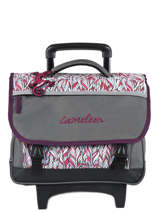 Wheeled Schoolbag 2 Compartments Cameleon Gray basic BAS-CR38