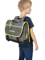 Satchel For Kids 2 Compartments Cameleon Gray basic BAS-CA38-vue-porte