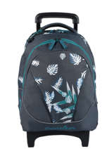 Wheeled Backpack For Kids 2 Compartments Cameleon Blue basic BAS-SR43