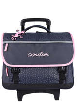 Wheeled Schoolbag 3 Compartments Cameleon Blue basic BAS-CR41