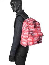 Backpack Padded Andy Eastpak Black andy warhol K620AND-vue-porte