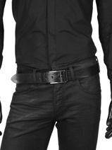 Belt Adjustable Petit prix cuir Black sport 4083-vue-porte