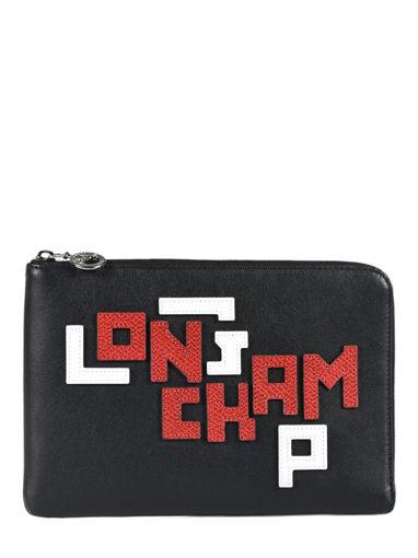Longchamp Le pliage cuir lgp Pochettes Blanc