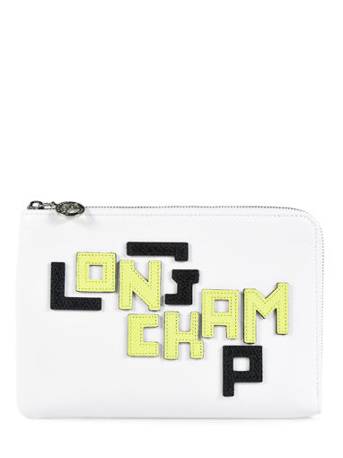 Longchamp Le pliage cuir lgp Clutches White