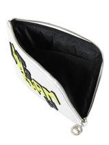 Longchamp Le pliage cuir lgp Pochettes Blanc-vue-porte