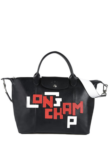 Longchamp Le pliage cuir lgp Handbag Black