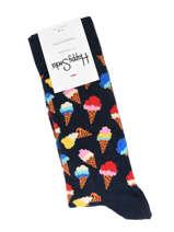 Chaussettes Happy socks Noir ice cream ICC01