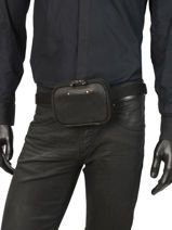 Fanny Pack Foures Black 9321-vue-porte