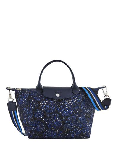 Longchamp Le pliage fleurs Handbag Blue
