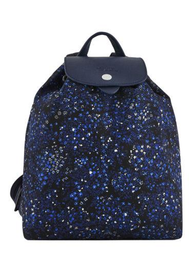 Longchamp Le pliage fleurs Backpack Blue