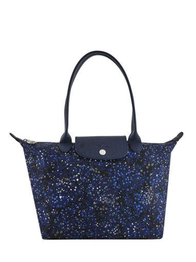 Longchamp Le pliage fleurs Besaces Bleu
