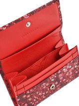 Longchamp Le pliage fleurs Coin purse Red-vue-porte