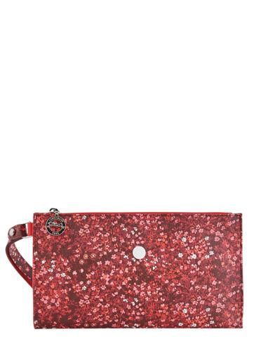 Longchamp Le pliage fleurs Pochettes Rouge