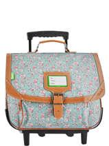 Wheeled Schoolbag 2 Compartments Tann's Blue fantaisie fille 42268